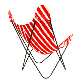 no-mad india black ajara chair red patta chair cover back