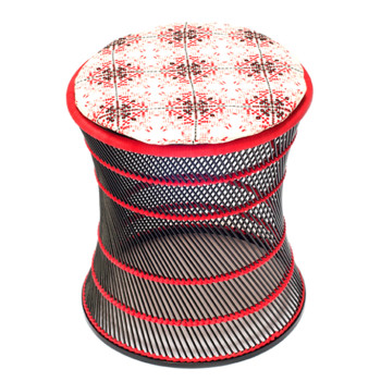 no-mad-india-black-muddah-red-isayu-small-round-cushion