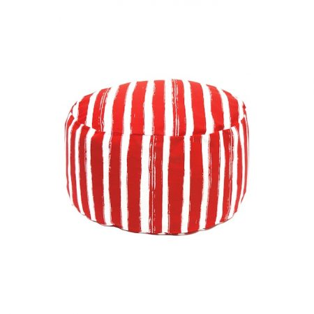 nomad-india-red-patta-pouf