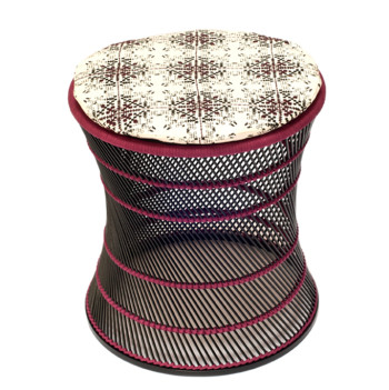 no-mad-india-black-muddah-plum-isayu-small-round-cushion