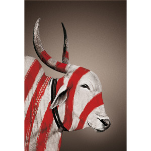no-mad-india-mascot-nandi-portrait-patta-print