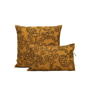 nomad-india-kusum-ochre-black-cushion-cover