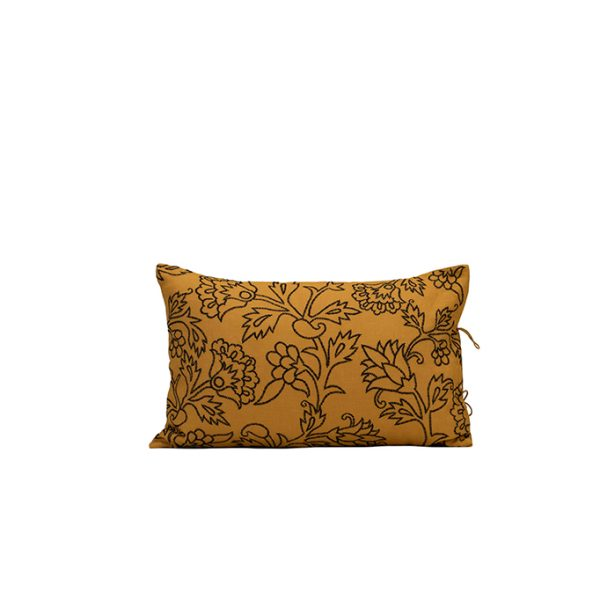 nomad-india-kusum-ochre-black-cushion-cover-35x55