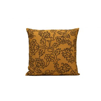 nomad-india-kusum-ochre-black-cushion-cover-50x50