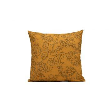 nomad-india-kusum-ochre-zari-cushion-cover-50x50