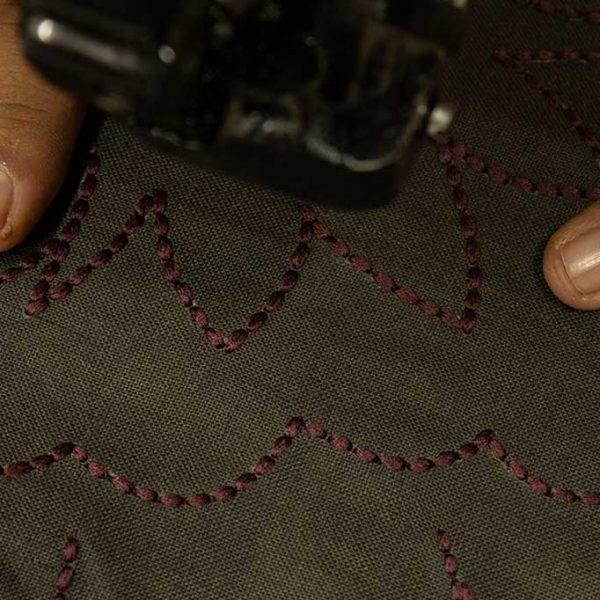 nomad-india-suman-charcoal-plum-cushion-cover-making