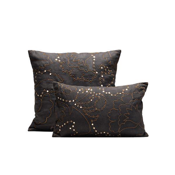 nomad-india-suman-charcoal-zari-cushion-cover