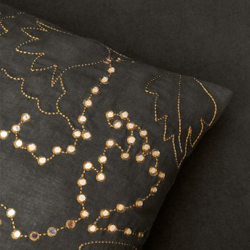 nomad-india-suman-charcoal-zari-cushion-cover-detail