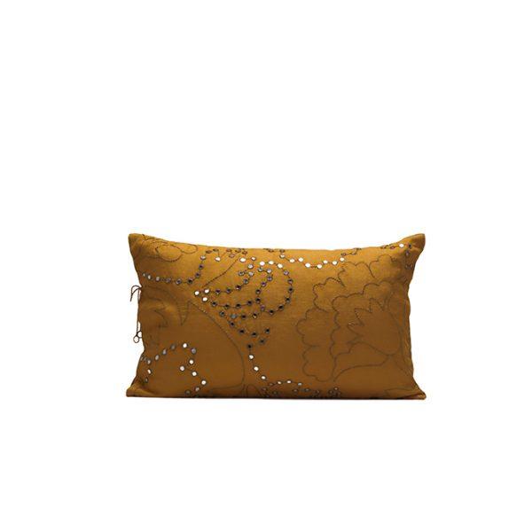 nomad-india-suman-ochre-zari-cushion-cover-35x55