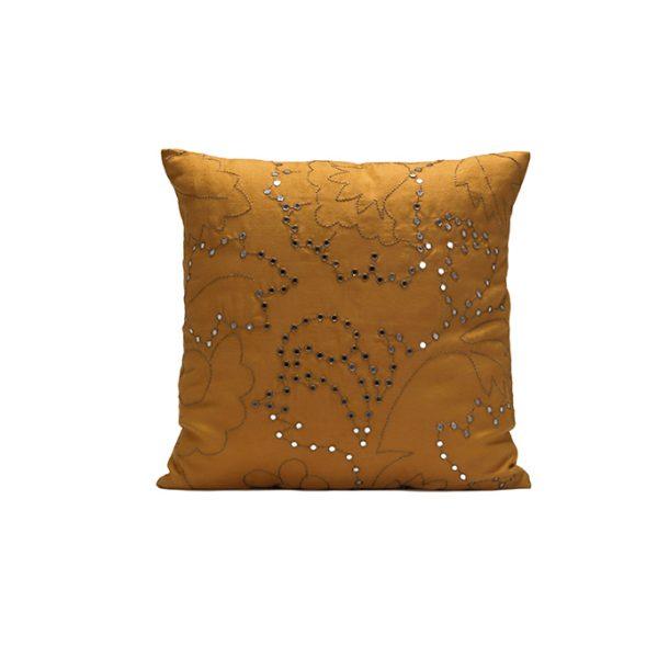 nomad-india-suman-ochre-zari-cushion-cover-50x50