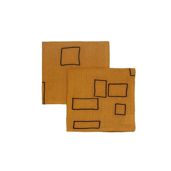 nomad-india-vanya-ochre-black-napkin