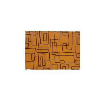 nomad-india-vanya-ochre-black-placemat-35x50