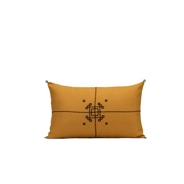 nomad-india-vayu-ochre-black-cushion-cover-35x55