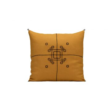 nomad-india-vayu-ochre-black-cushion-cover-50x50
