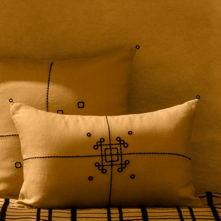 nomad-india-vayu-ochre-black-cushion-cover-main