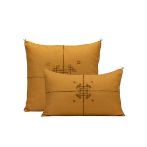 nomad-india-vayu-ochre-zari-cushion-cover
