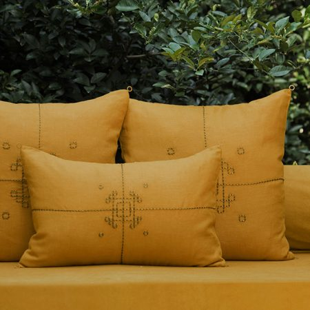 nomad-india-vayu-ochre-zari-cushion-cover-main