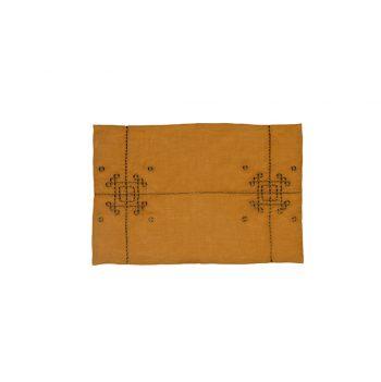 nomad-india-vayu-ochre-zari-placemat-35x50