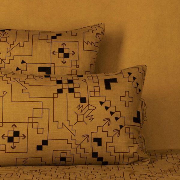 nomad-india-ryka-ochre-black-plum-cushion-cover-main