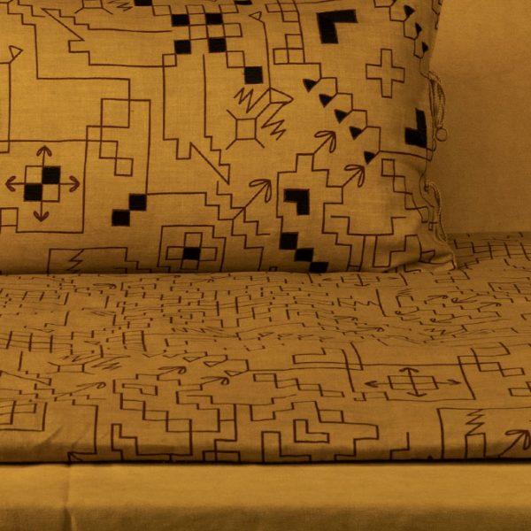 nomad-india-ryka-ochre-black-plum-mattress-cover-main