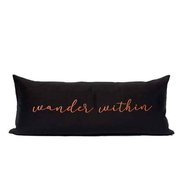 nomad-india-barahmasa-word-cushion-black-terracotta-mood-wander-within