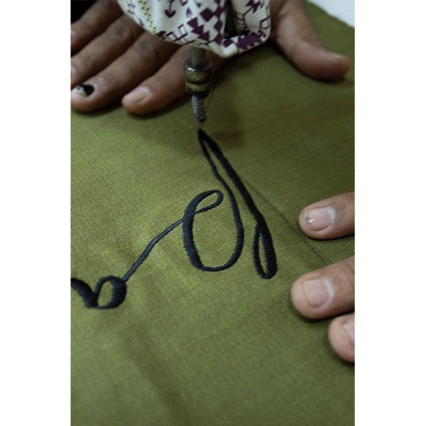 nomad-india-khaki-pause-cushion-cover-front-making