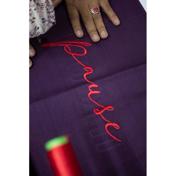nomad-india-plum-pause-cushion-cover-front-making