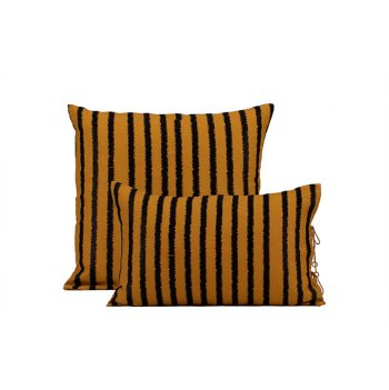 nomad-india-textiles-cushion-cover-lakeer-ochre-black