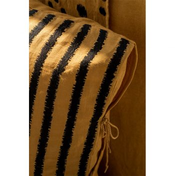 nomad-india-textiles-cushion-cover-lakeer-ochre-black-details